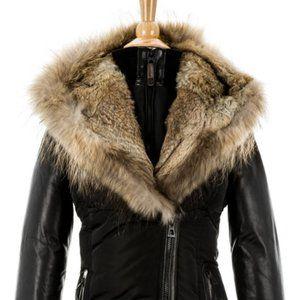 RUDSAK grace down parka with fur trim